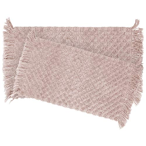 French Connection Arta Bath Rug, 17 in. x 24 in./20 in. x 32 in. in, Blush
