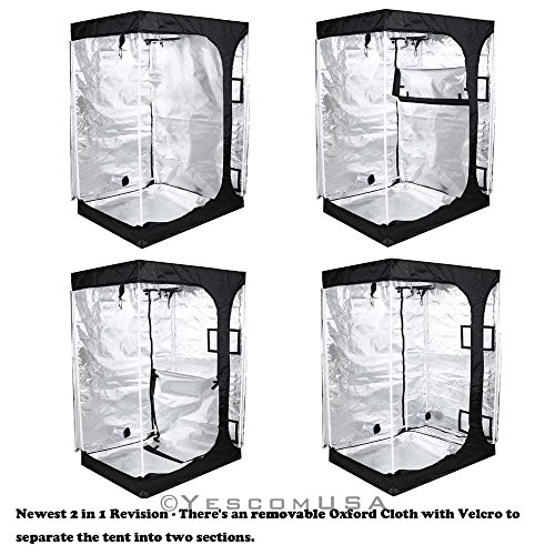 51jX9 yStoL - 2-in-1 100% Reflective Mylar Hydroponics Indoor Grow Tent Propagation and Flower