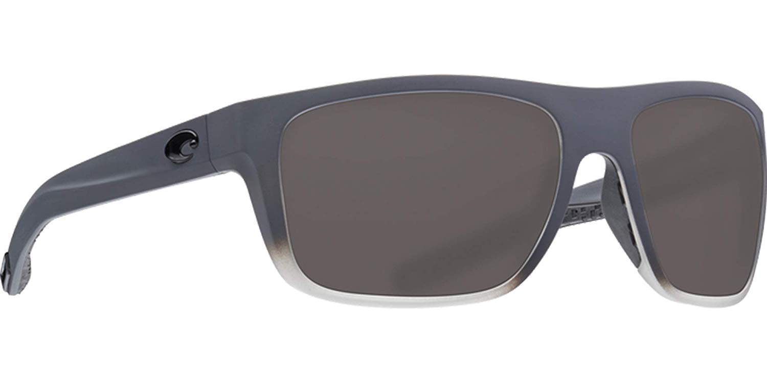 Costa Del Mar - Ocearch Broadbill - Matte Fog Grey Frame-Grey 580 Poly Polarized Lenses by Costa Del Mar