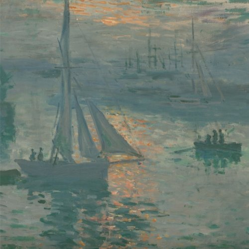 Sunrise (Marine), Claude Monet. Blank journal: 150 blank pages, 8,5 x 8,5 inch (21.59 x 21.59 centimeters) Laminated. (Paper notebook, composition book) PDF