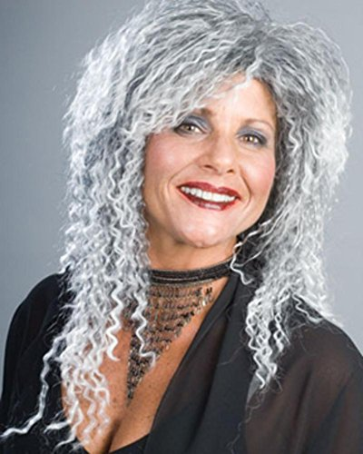 The Costume Grandma Addams Family (Grandma Wig Addams Family Witch Kinky Women's Old Lady Mixed Grey by Enigma Costume)