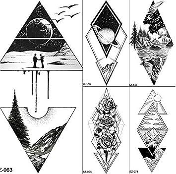 yyyDL tatuajes temporales Tatuajes geométricos Temporales Hombres ...