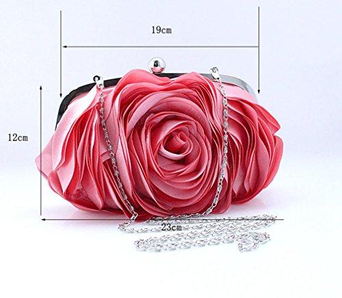 Clutch Rose Pattern Shoulder Color Bags Womens Purse Party 7 Bywen X6wZqxBFq