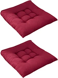 2 Pack Chair Pads Seat Cushion with Ties,Outdoor Indoor Soft Thicken Comfy Seat Pads Cushion Pillow,Dining Room Kitchen Chair Cushions for Home Office Car Patio Furniture Garden Decoration (D5/2PC)