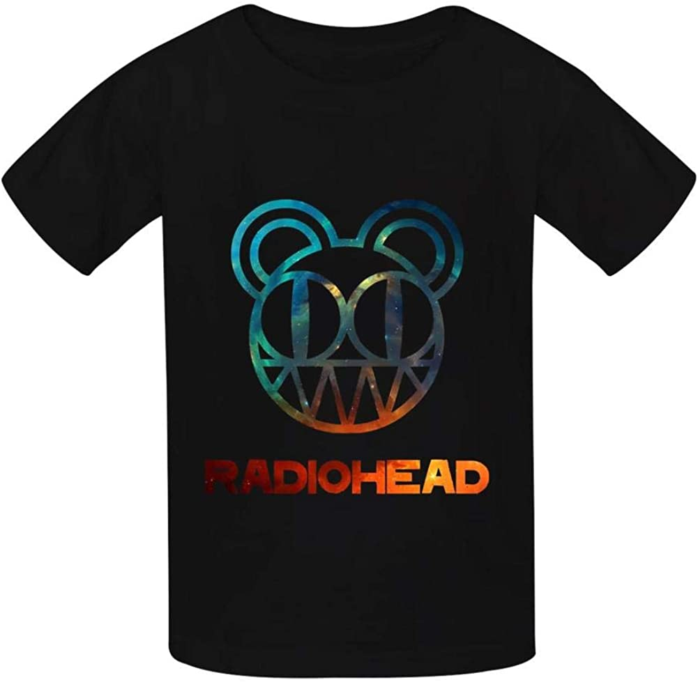 Xusnjv Radi0head T Shirt Boys and Girls Casual Round Neck Short Sleeve T-Shirts Cotton