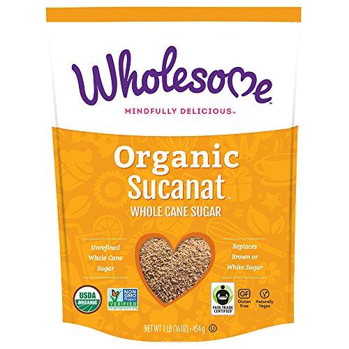 Price comparison product image Wholesome Organic Sucanat Whole Cane Sugar,  Fair Trade,  Non GMO,  1 LB (Pack of 12)