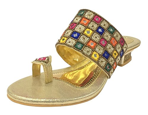 Jooti Women Indian Khussa n Shoes Shoes Step Jutti Ethnic Wedding Party Style Shoes TEq1gwwY