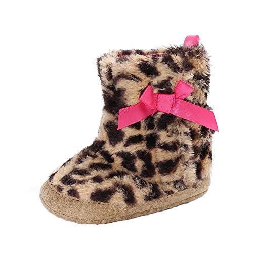 a6de655e0 TODAYTOP Baby - Botas de Invierno Invierno - Zapatos para bebé niña Guantes  Leopardo Forro Polar bebé Zapatos Botas de Nieve Sleeping Baby Guantes para  0 ...