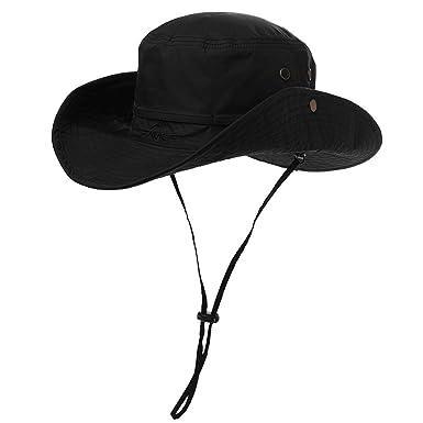 d6e42a81 Comhats UPF 50 Sun Hat Wide Brim UV Protection Foldable Summer Outdoor  Safari Hat Waterproof Walking