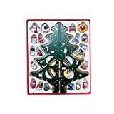 Wekee DIY Wooden Mini Christmas Tree Desk Decoration Home Xmas Ornament for Party, Club, Children's Gift,Green,14.2inch(H)