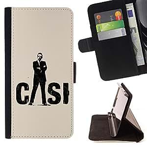 - SUIT MAN CRIME SYMBOL BLACK FORENSICS SCENE - - Prima caja de la PU billetera de cuero con ranuras para tarjetas, efectivo desmontable correa para l Funny HouseFOR Apple Iphone 6 PLUS 5.5
