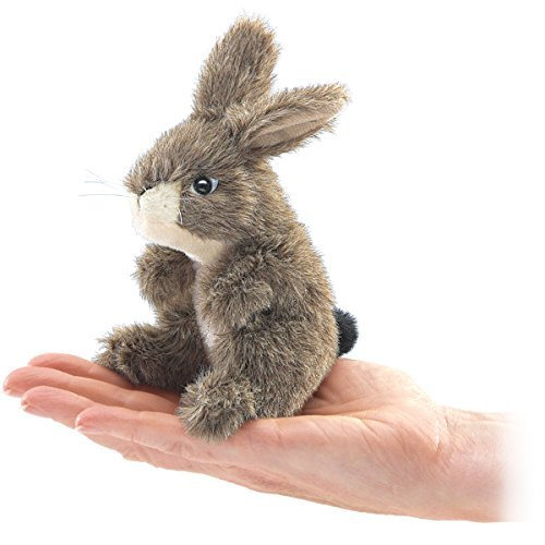 Mini Rabbit Finger Puppet - Folkmanis Mini Jack Rabbit Finger Puppet