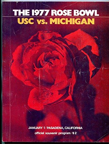 1977 Rose Bowl Game Program USC Michigan NCAA football ()