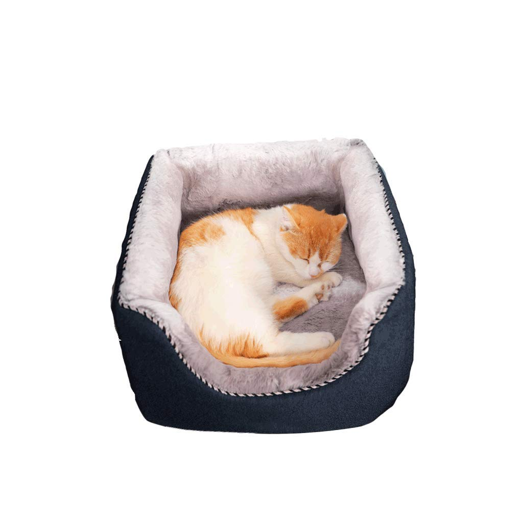 Small JXLBB Pet Cat Cat Litter Teddy Method Small Dog Kennel Dog Mattress Cat House Nest Pad Dual-use Warm In Winter And Cool In Summer, Suitable For All Seasons (Size   S)