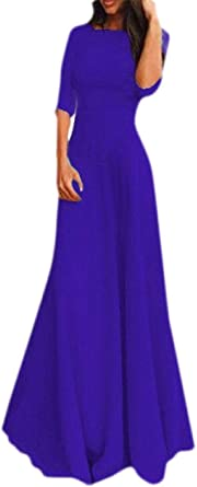 ouxiuli Womens V-Neck Sleeveless Bridesmaid Cocktail Evening Gown Party Dress