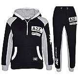 A2Z 4 Kids Kids Tracksuit Boys Girls Designer's A2Z NY Deluxe Edition - T.S A2Z NY 001 Black 5-6