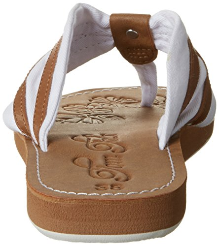 Tom Tailor 2791611, Chanclas para Mujer Weiß (white-camel)