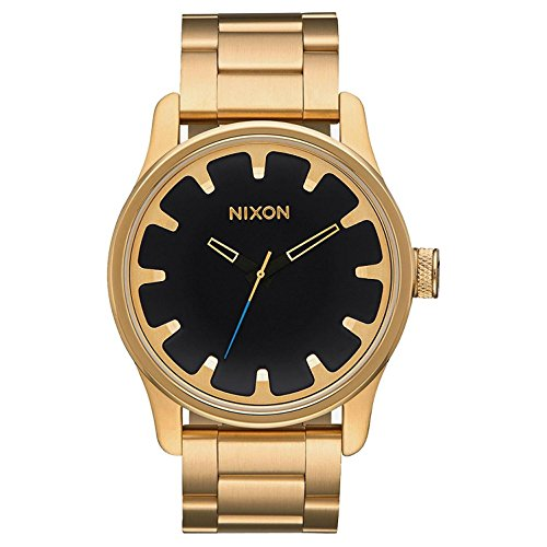 Nixon Unisex Driver Collection All Gold/Black One - Driver Watch Mens