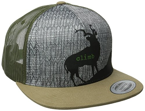 Goat Roam (prAna Men's Journeyman Trucker Hat, One Size, Dark Khaki)