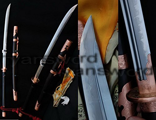Hand Made High Quality Clay Tempered+abrasive 1095 Carbon Steel+folded Steel+iron Japanese Naginata Sword