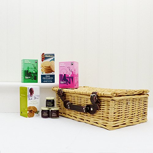 Breakfast In Bed Wicker Gift Basket Christmas Hamper from Fine Food Store (7 Items)