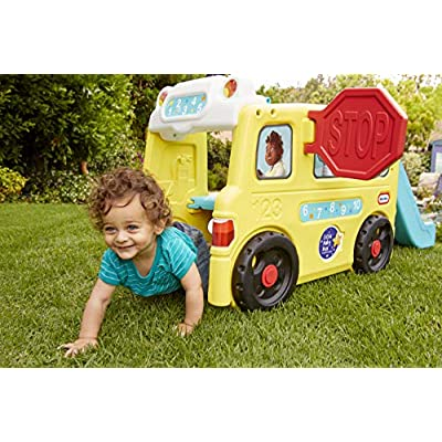 Little Tikes Little Baby Bum Wheels on The Bus Climber and Slide with Interactive Musical Dashboard: Toys & Games