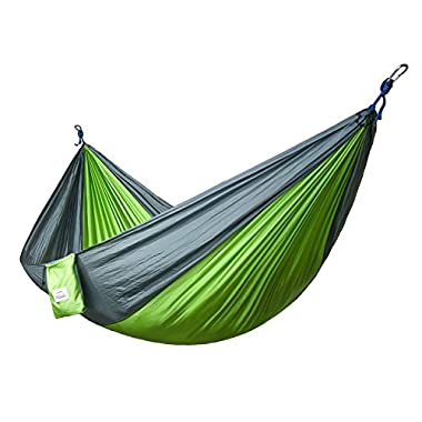 Double and Single Camping Hammocks Ultralight Portable Nylon Parachute Multifunctional Hammocks for Light Travel, Camping, Hiking, Backpacking, Mats, Swing, Carpet Apriller