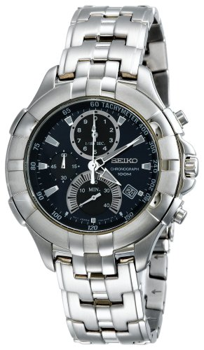 Seiko Men's SPC011 Retrograde Chronograph Silver-Tone Watch