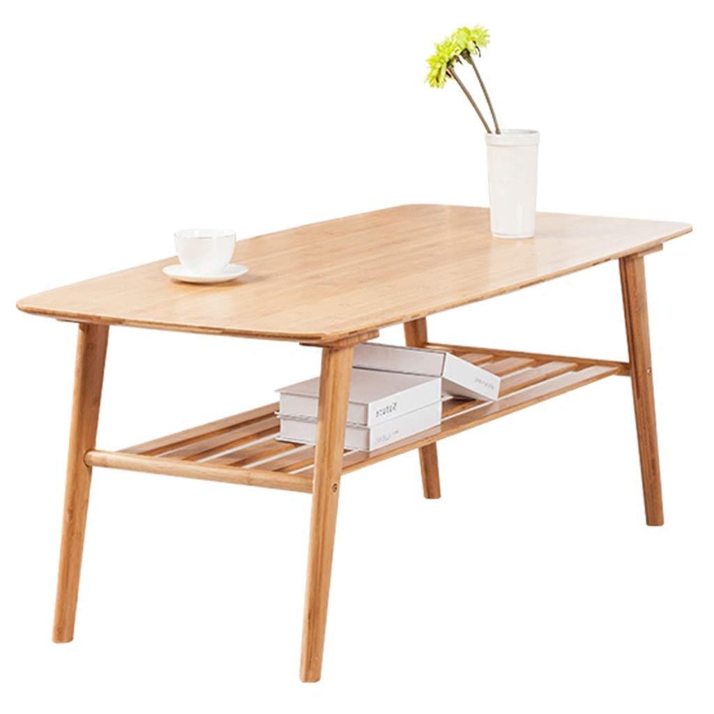 Tisch Bambus Einfacher Couchtisch Niedriger Tisch Laptop Tisch Nordischen Stil Wohnzimmer Rechteckigen Tee Tisch Braun Versammlung (Color : Brown, Size : 100 * 50 * 40CM)