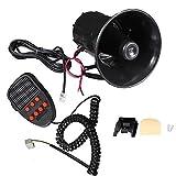 Hex Autoparts 100W 12V 7 Sound Loud Car Warning Alarm Police Fire Siren Horn PA Speaker MIC System