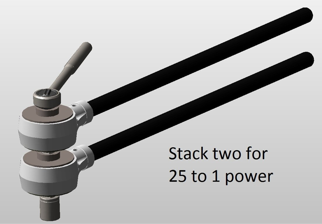 Ratchet Helper, 5X Torque Multiplier 1/2'' in and OUT, No cost Mailing by CheaterBarTM (Image #4)