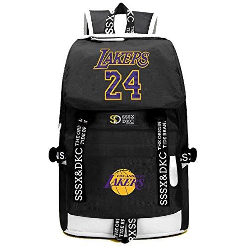YOURNELO Basketball Player Rucksack School Backpack Bookbag (B Lakers 1)