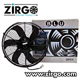 Zirgo 10209 14'' 2122 fCFM High Performance Blu Cooling Fan