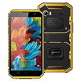 Kenxinda W9 Waterproof Smartphone, 4G Android 5.1 MTK6753 Octa Core 2GB RAM 16GB ROM 6.0-Inch 1920 x 1080 13.0MP (Yellow)