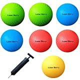 Lazer Berry 8.5 Inch Playground Balls (Set of 7) Dodgeball with 1 Hand Pump For Dodgeballs, Kickball