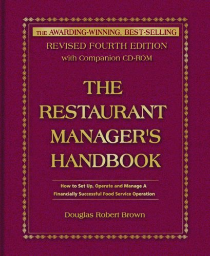 The Restaurant Manager's Handbook: How to Set Up, Operate, and Manage a Financially Successful Food Service Operation 4th Edition - With Companion CD-ROM (Business Restaurant compare prices)