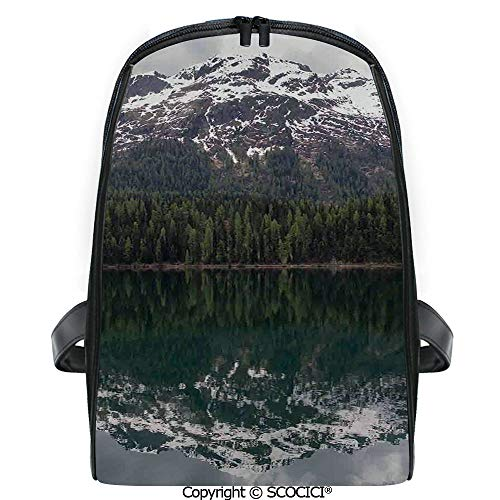SCOCICI 3D Digital Printed Backpack Lake St. Moritz in Switzerland Upper Engadin Valley Snowy Mountains Cute Outdoor Daypack
