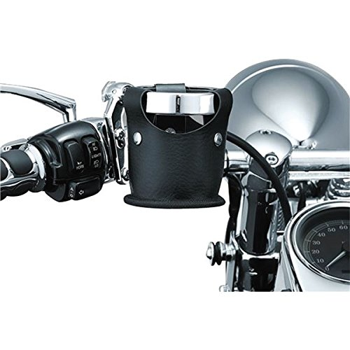 Kuryaky 1500 Universal Drink Ring with Beverage Carrier (ea) Fits: All '82-'10 H-D Model Clutch or Brake Perch Mounts