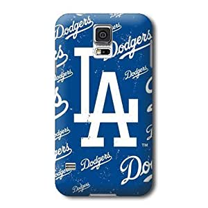 S5 Case, MLB - Los Angeles Dodgers - Cap Logo Blast - Samsung Galaxy S5 Case - High Quality PC Case