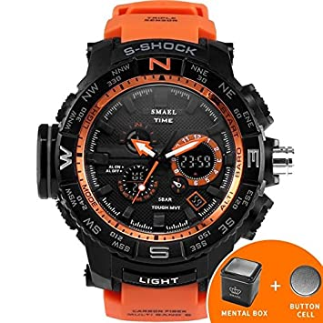 smael serie deporte reloj smael marca relojes LED Digital wristwach multifuncional reloj de los hombres LED Cronómetro 1531 S Shock reloj deportivo, ...