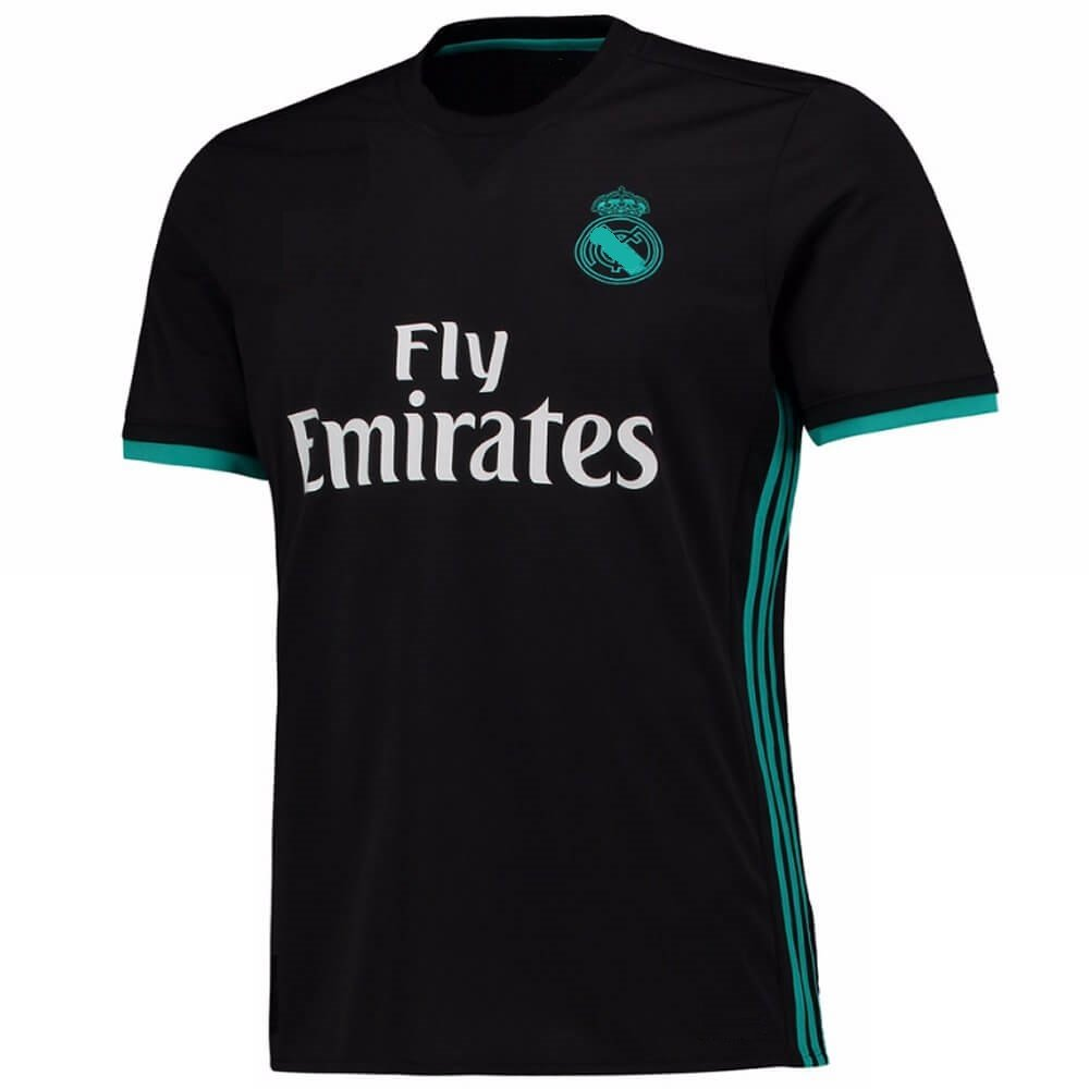 super popular 6d485 52e23 Marex Real Madrid Away Black Ronaldo Football Jersey
