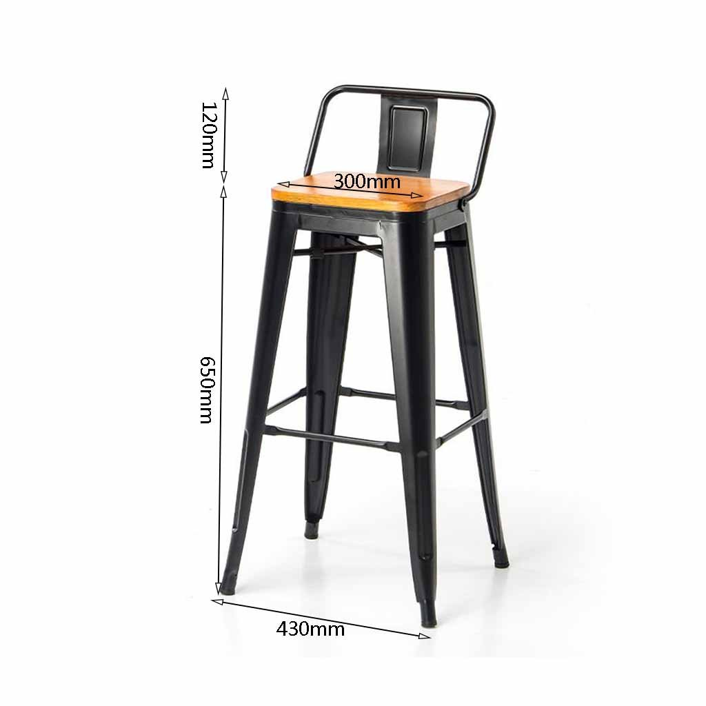 Amazon.com: Metal Bar Stools Kitchen Breakfast Dining Chair ...
