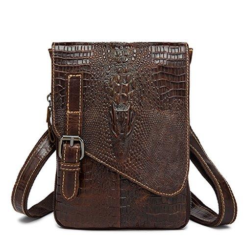 Sucastle Small Leather Man Bag, Backpack Genuine Leather Handbags, Shoulder And Chest, Shoulder Bags, Bag 16x2x22cm Resistant, # 2 # 2