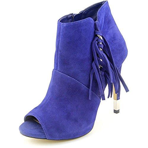 Denk Dat Vrouwen Aziz Peep Toe Enkel Mode Laarzen Donkerblauw Suede