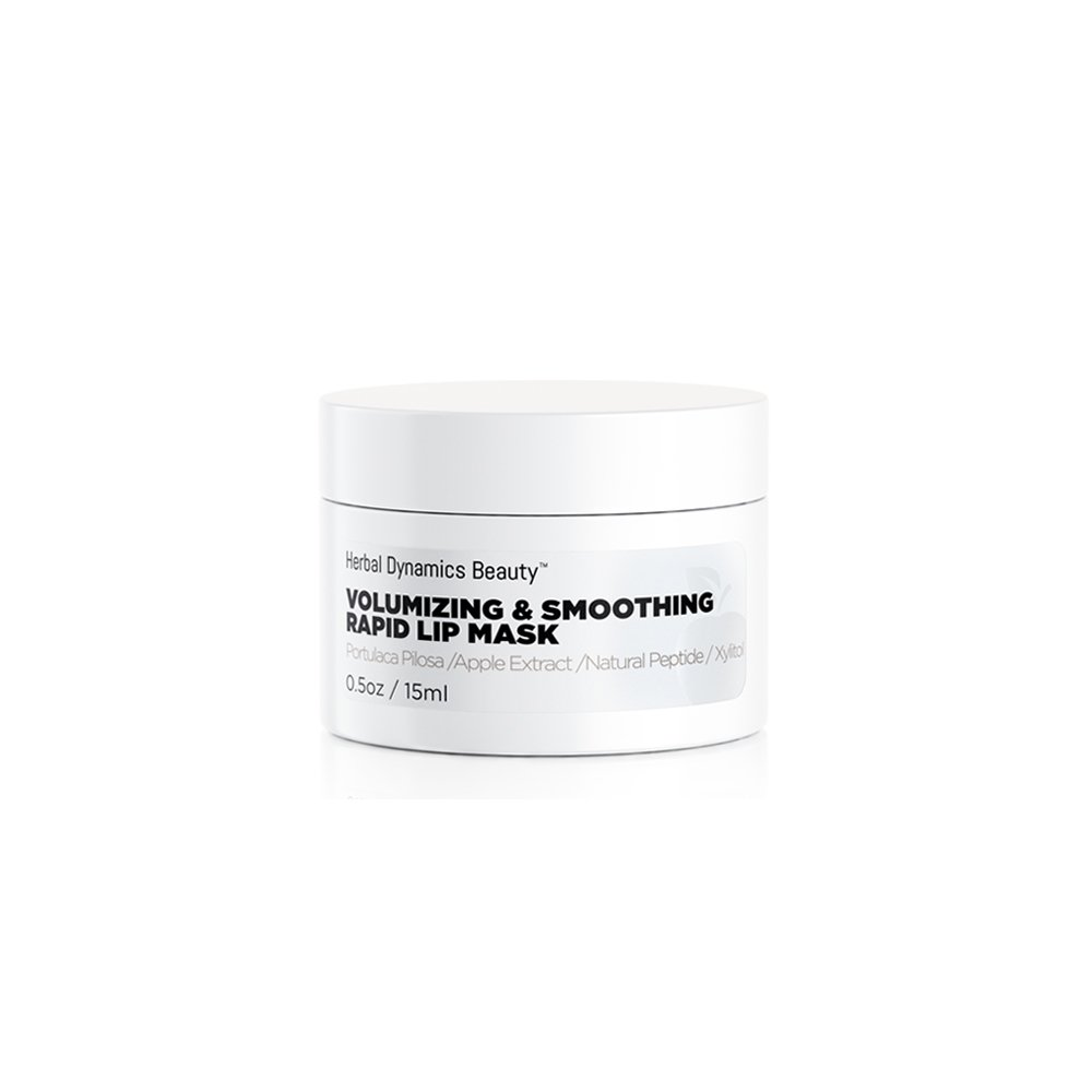 HD Beauty Volumizing & Smoothing Rapid Lip Mask with Apple Extract, Kiss-Me-Quick, Peptides, and Xylitol for Nature Volume and Softness, 0.5 oz.