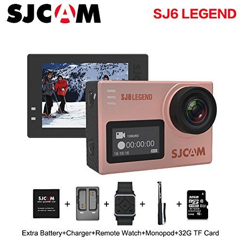 Original SJCAM SJ6 Legend 4K 30fps HD 1080P Action Camera 2.0'' Touch Screen Waterproof Remote Sport DV Camera (Rose Gold) by SJCAM