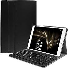 Fintie ASUS ZenPad 3S 10 Z500M Keyboard Case - SlimShell Lightweight Stand Cover w/ Magnetically Detachable Wireless Bluetooth Keyboard for ZenPad 3S 10 Z500M (NOT FIT Model# Z500KL), Black