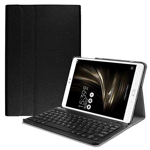Fintie ASUS ZenPad 3S 10 Z500M Keyboard Case (NOT FIT Model# Z500KL) - SlimShell Lightweight Stand Cover w/Magnetically Detachable Wireless Bluetooth Keyboard for ZenPad 3S 10 (Z500M ONLY), Black