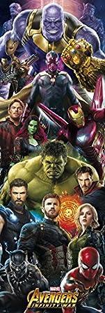 Grupo Erik Editores PPGE8048 - Poster Los Vengadores Infinity War Marvel Thanos, 53 x 158 cm
