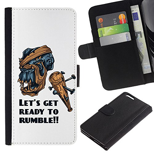 EuroCase - Apple Iphone 6 PLUS 5.5 - Let's Get Ready To Rumble - Cuir PU Coverture Shell Armure Coque Coq Cas Etui Housse Case Cover